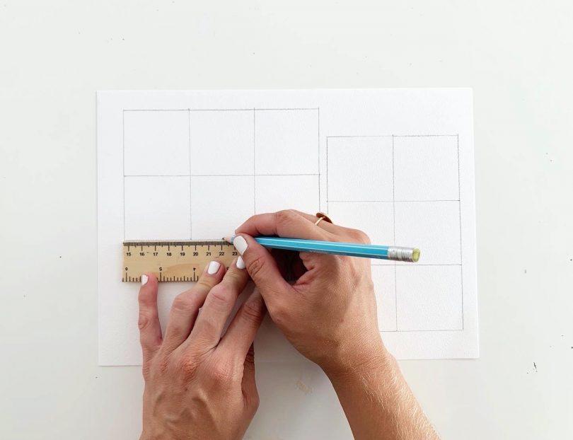 Créer le canevas pour le loto de la mer sur le papier