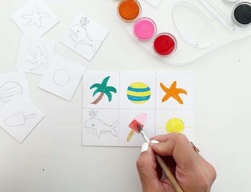 A vos pinceaux pour colorer ces jolies images du loto de la mer !