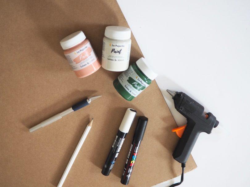 Voici tout le matériel dont on a besoin pour réaliser ce joli DIY de Panier pou Pâques !