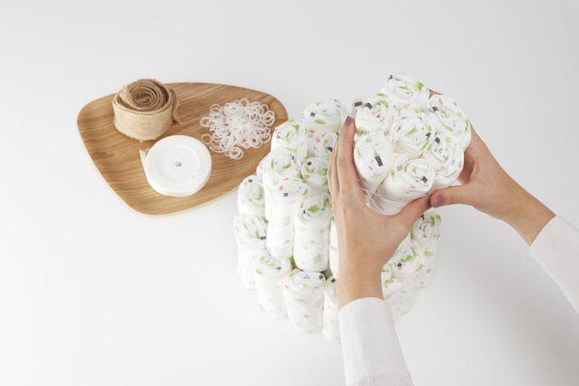 montage du gâteau de couches